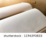write notebooks and work. books ... | Shutterstock . vector #1196393833
