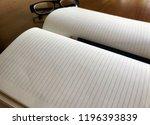 write notebooks and work. books ... | Shutterstock . vector #1196393839