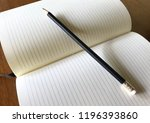 write notebooks and work. books ... | Shutterstock . vector #1196393860