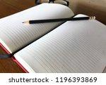 write notebooks and work. books ... | Shutterstock . vector #1196393869