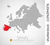 map of european union with the... | Shutterstock .eps vector #1196394376