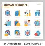 human resource icon set | Shutterstock .eps vector #1196405986