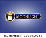 shiny emblem with phd thesis... | Shutterstock .eps vector #1196419156
