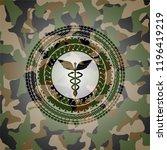 caduceus medical icon inside... | Shutterstock .eps vector #1196419219