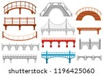 collection of different bridges.... | Shutterstock .eps vector #1196425060