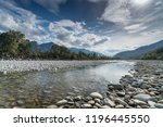 River And Mountain Landscape In ...