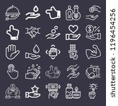 set of 25 hand outline icons... | Shutterstock .eps vector #1196454256