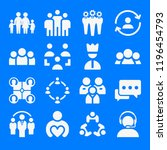 set of 16 group filled icons... | Shutterstock . vector #1196454793