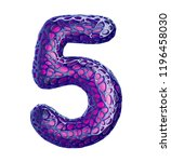 number 5 five made of purple... | Shutterstock . vector #1196458030