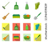 vector design of cleaning and... | Shutterstock .eps vector #1196459839