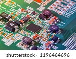 electronic circuit board close... | Shutterstock . vector #1196464696