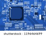 electronic circuit board close... | Shutterstock . vector #1196464699