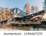 mountains in autumn with river... | Shutterstock . vector #1196467270