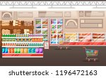 supermarket illustration. store ... | Shutterstock .eps vector #1196472163
