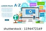 language school concept banner. ... | Shutterstock .eps vector #1196472169