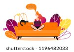 concept of couchsurfing... | Shutterstock .eps vector #1196482033