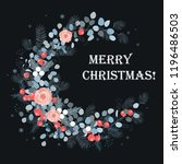 merry christmas card design....   Shutterstock .eps vector #1196486503