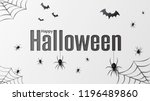 happy halloween. vector... | Shutterstock .eps vector #1196489860