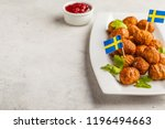 swedish traditional meatballs...   Shutterstock . vector #1196494663