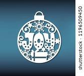 template christmas ball for... | Shutterstock .eps vector #1196509450