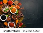 spices and herbs on a wooden...   Shutterstock . vector #1196516650