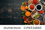 a set of spices and herbs.... | Shutterstock . vector #1196516860
