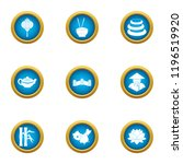 homeland in asia icons set.... | Shutterstock .eps vector #1196519920