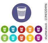 domestic bin icon. simple... | Shutterstock .eps vector #1196520496