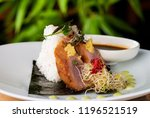 freshtuna sashimi with rice | Shutterstock . vector #1196521519