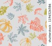 decorative seamless pattern... | Shutterstock .eps vector #1196526586