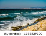blue ocean or blue sea rocks.... | Shutterstock . vector #1196529100