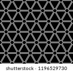 seamless black triangles and... | Shutterstock .eps vector #1196529730