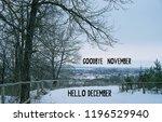 goodbye  november  hello... | Shutterstock . vector #1196529940