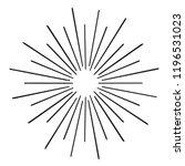 vintage sunburst explosion... | Shutterstock .eps vector #1196531023
