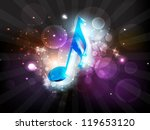 musical notes. can be use as...   Shutterstock .eps vector #119653120