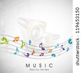 musical notes. can be use as...   Shutterstock .eps vector #119653150