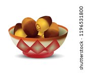 yellow dates in red bowl on... | Shutterstock .eps vector #1196531800