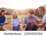 photo of friendly company of... | Shutterstock . vector #1196533456