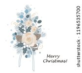 christmas bouquet arranged with ... | Shutterstock .eps vector #1196535700