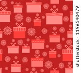 vector red wrapping christmas... | Shutterstock .eps vector #1196540479