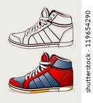 vector shoes sneakers. | Shutterstock .eps vector #119654290