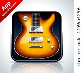 guitar musical app icon. vector ... | Shutterstock .eps vector #119654296