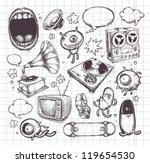 Set of hand drawn elements. Vector illustration.