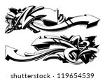 black and white graffiti...