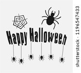 happy halloween vector... | Shutterstock .eps vector #1196547433