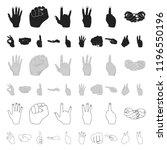 hand gesture cartoon icons in...   Shutterstock .eps vector #1196550196