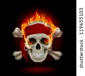 Pirate Skull In Flames....
