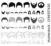 mustache and beard  hairstyles...   Shutterstock .eps vector #1196557630