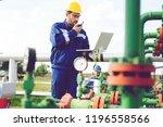 engineer in an oilfield working ...   Shutterstock . vector #1196558566