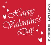 happy valentines day greeting... | Shutterstock .eps vector #1196562403
